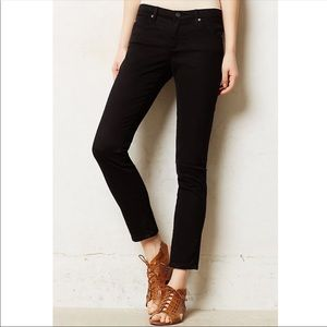 AG the Stevie Ankle Slim Straight Leg Jeans Black